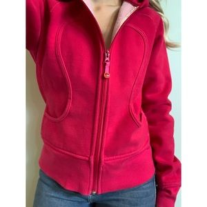 Size 4, Lululemon, Fuchsia pink scuba hoodie 🌺